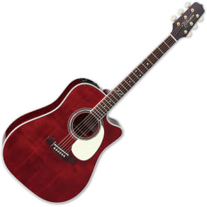 Takamine JJ325SRC Signature Series John Jorgenson Model Dreadnought Cutaway Acoustic/Electric Guitar Dark Gloss Stain Natural