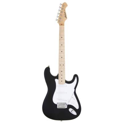 Aria Pro II STG-003-M Electric Guitar, Black with Maple Fingerboard for sale