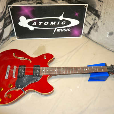 Oscar Schmidt by Washburn Delta King OE-30 OE30 ES-335 style Semi-Hollow Body Guitar Cherry for sale