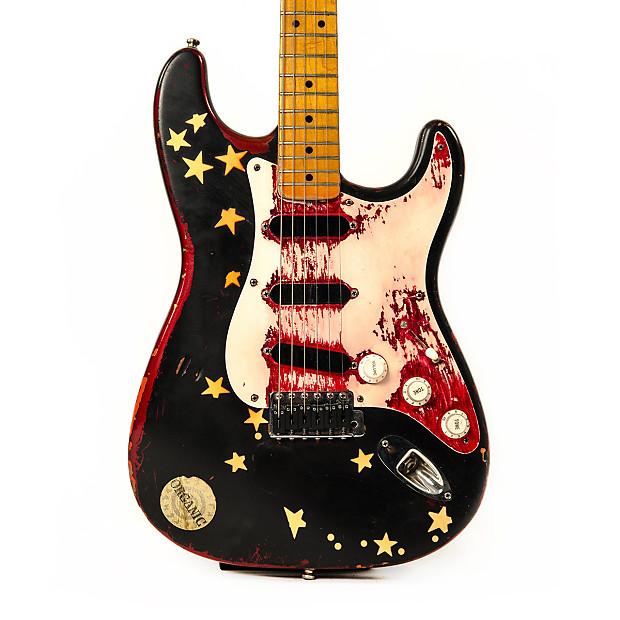 Billy Corgan Stratocaster : make offer fender stratocaster 1988 black over metallic candy reverb ~ Vivirlamusica.com Haus und Dekorationen