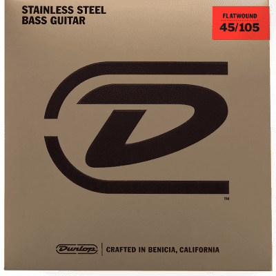 Dunlop DBFS45105 Stainless Steel Flatwound Bass Strings - (45-105)