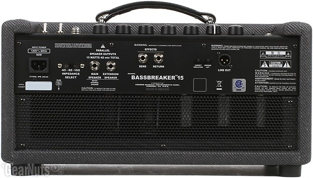 fender bassbreaker 15 15 watt tube head gearnuts reverb. Black Bedroom Furniture Sets. Home Design Ideas