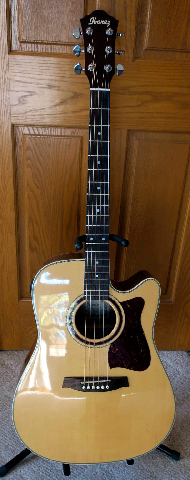 ibanez vs 100 cent acoustic electric guitar with a solid reverb. Black Bedroom Furniture Sets. Home Design Ideas