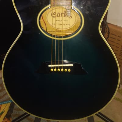 CARLOS  EF240CA Cutaway Electric Acoustic  1980's Dark Blue Sunburst for sale