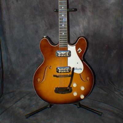 Video Demo 1967 Barclay By Harmony Meteor H 74-3 Sunburst Whammy Pro SEtup Original Soft Shell Case for sale