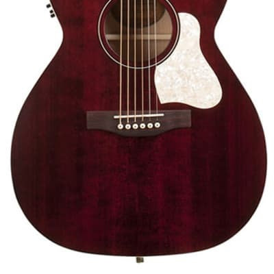 Art & Lutherie Legacy Concert Hall Cutaway Acoustic Guitar with Godin Q1T - Tennessee Red for sale