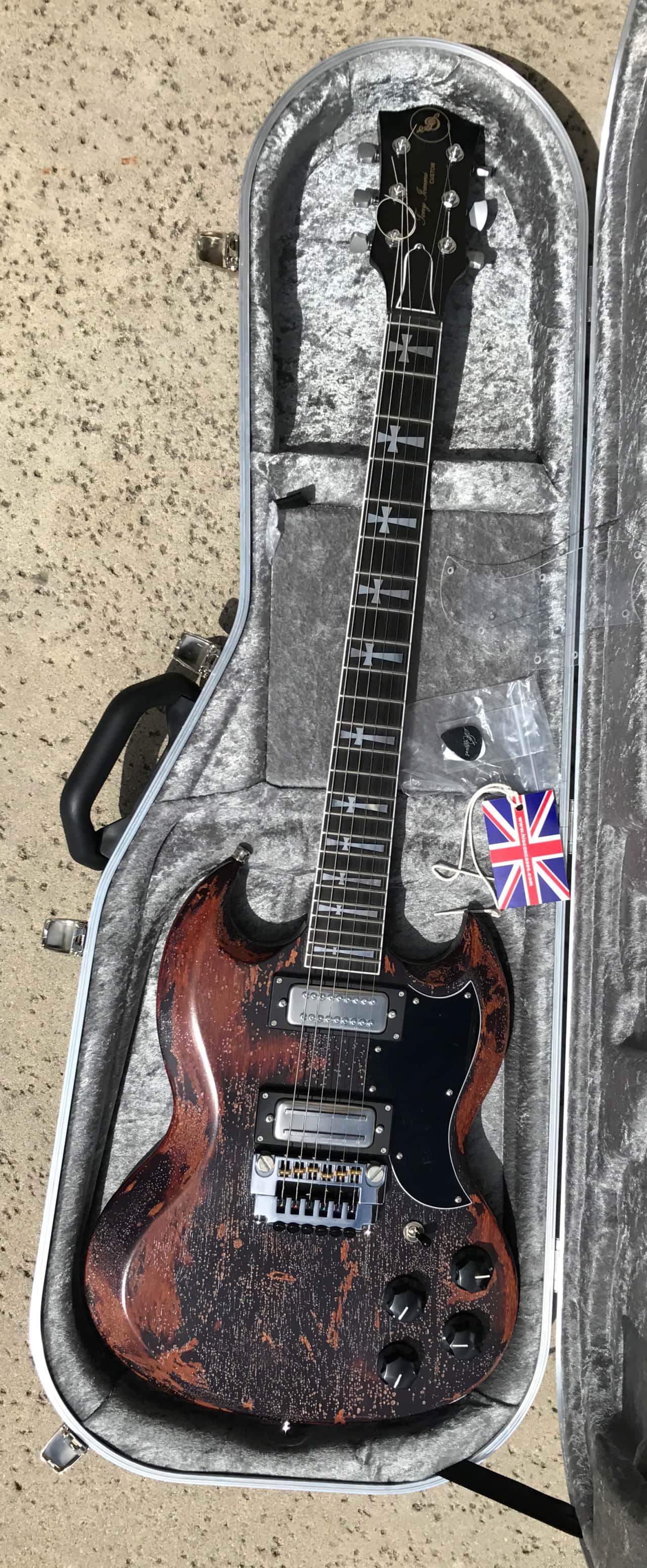 Jaydee Custom Guitars Old Boy Sg Tony Iommi Gibson Guitar