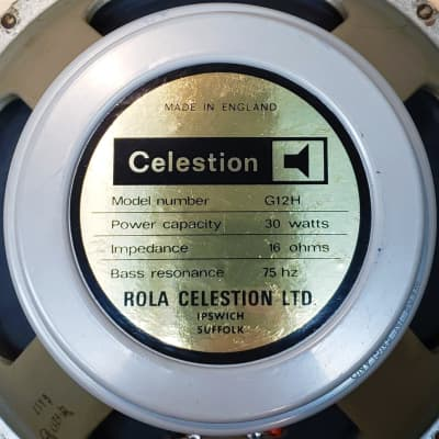 Celestion T1217 G12H 75 Hz 16 Ohm Greyback RIC Cone