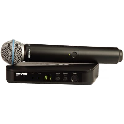 Shure BLX24/B58 Handheld Wireless Beta58A Microphone System, Channel H10 (542-572 MHz)