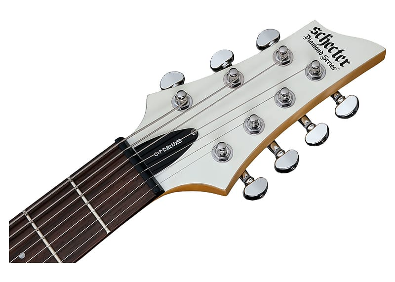 schecter c7 deluxe electric guitar rosewood satin white reverb. Black Bedroom Furniture Sets. Home Design Ideas
