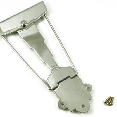 WD TP250C Cordier Style Tailpiece Fancy Old Jazz Archtop 50s Look Chrome