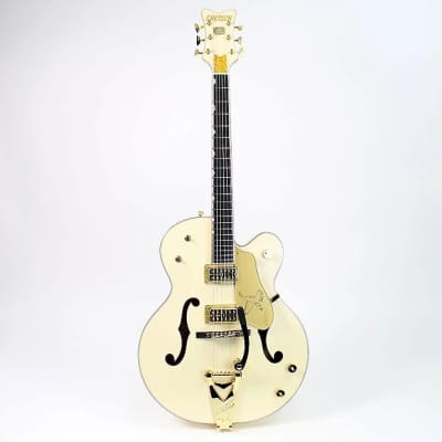 Gretsch G6136T-LTV White Falcon Lacquer with Bigsby, TV Jones Pickups