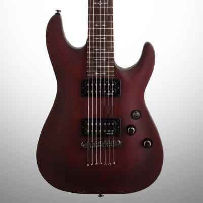 Schecter 2012 Omen 7 Electric Guitar (7-String), Walnut Stain for sale