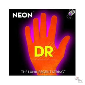 DR NOB5-45 Hi-Def Coated Neon 5-String Bass Strings - Medium (45-125)