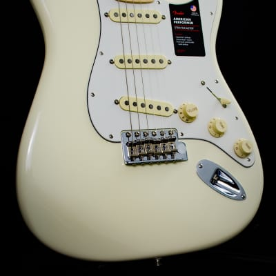 Fender Channel Exclusive American Performer Stratocaster Limited Edition olympic white for sale