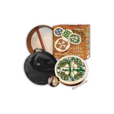 Waltons 18-inch Bodhran Package - Gaelic Cross Drum w/ Bag & DVD for sale
