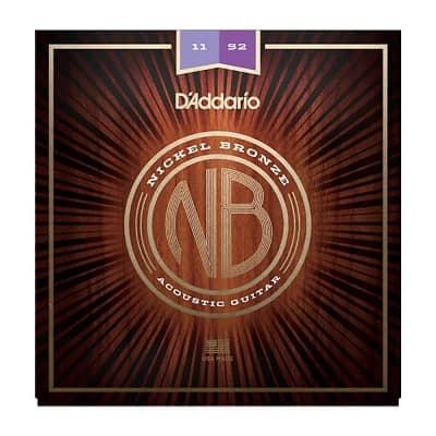 D'Addario NB1152 Nickel Bronze Acoustic Guitar Strings, Custom Light Gauge