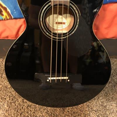 Samick AB2 Acoustic Bass-BK Black for sale
