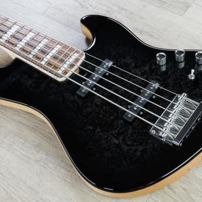 Mayones Jabba Custom BB 5 5-String Electric Bass Buckeye Burl Black w/ Case for sale