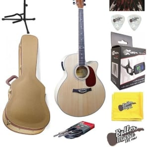 Giannini GF4-CEQ-M - A/E Cutaway Spruce Top Guitar - w/GD Tweed Case + More for sale