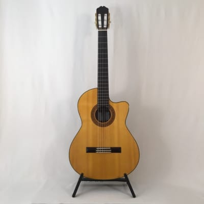 K Yairi CY127 CE (2009) 59957  Nylon string electro LR Baggs VTC, with cutaway, in a Hiscox case. for sale