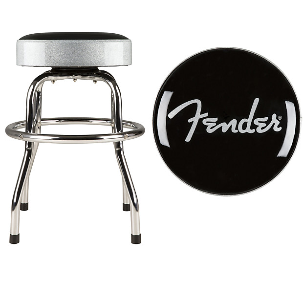 Excellent Fender Barstool Silver Sparkle 30 Inch Swiveling Bar Stool W Padded Seat Top Camellatalisay Diy Chair Ideas Camellatalisaycom