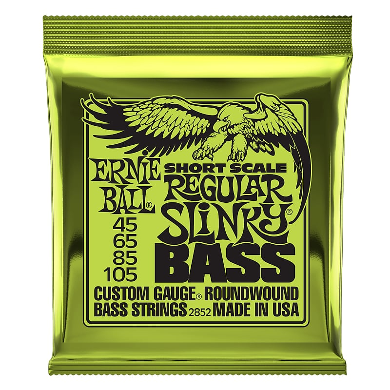 Ernie Ball Regular Slinky Nickel Wound Short Scale Bass Strings - 45-105 Gauge