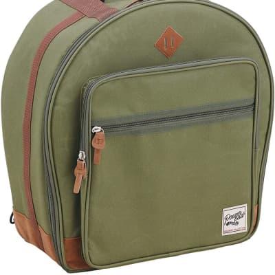 "TAMA POWERPAD Designer Collection Snare Drum Bag 6.5""x14"" Moss Green, TSDB1465MG"
