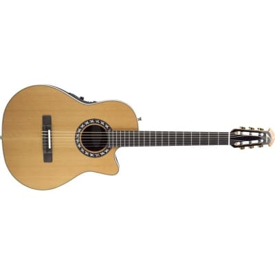 Ovation 1773AX-4 Classical Nylon Mid Cutaway, Natural for sale