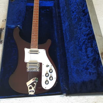 Rickenbacker 480 Jan 1973 (s018) Burgundy with 1960's toaster pickups plus original 480 pickups for sale