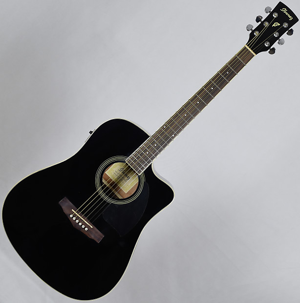 Ibanez Pf15ecebk Series Acoustic Electric Guitar Black Reverb