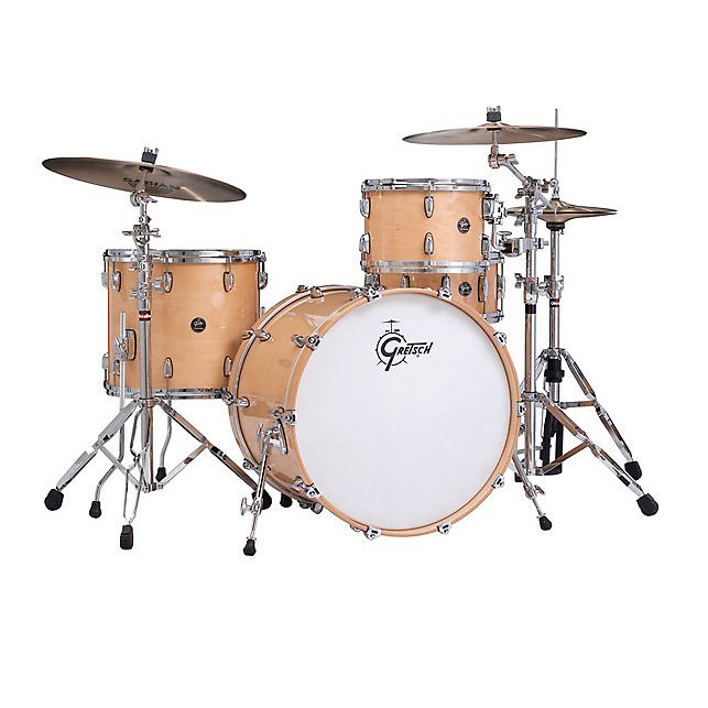 Gretsch Renown 3pc Rock Drum Kit 13/16/24 Gloss Natural Shell Pack