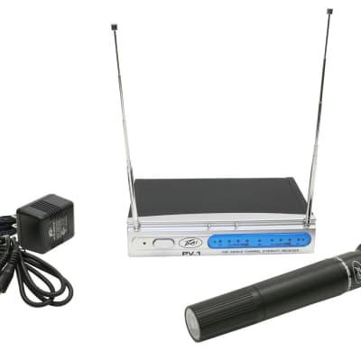 Peavey PV-1 V1 HH 203.400MHZ VHF Single Channel Hand Held Diversity Wireless System (3010050)