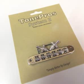 TonePros TP6R-N Tune-O-Matic Bridge with Roller Saddles