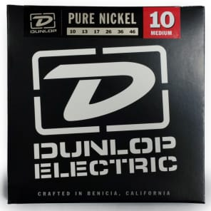 Dunlop DEK1046 Pure Nickel Electric Guitar Strings - Medium (10-46)