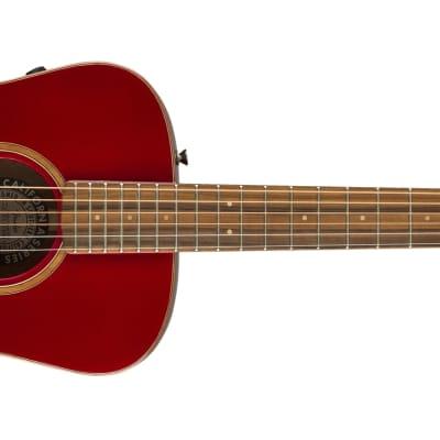 Fender Malibu Classic, Pau Ferro Fingerboard, Hot Rod Red Metallic Guitar w/bag - DEMO
