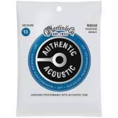 Martin MA550 SP Phosphor Bronze Authentic Acoustic Guitar Strings Medium .013-.056