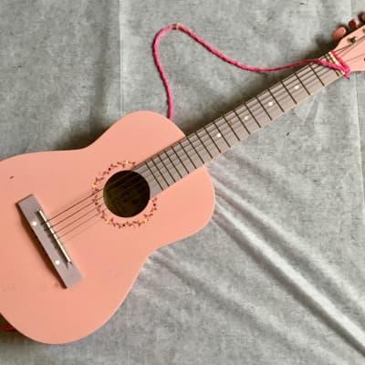 "BURSWOOD JC-301 Acoustic Kids/Travel/Mini 1/2 Guitar 30"" Zero Fret Pink Poor Condition for sale"