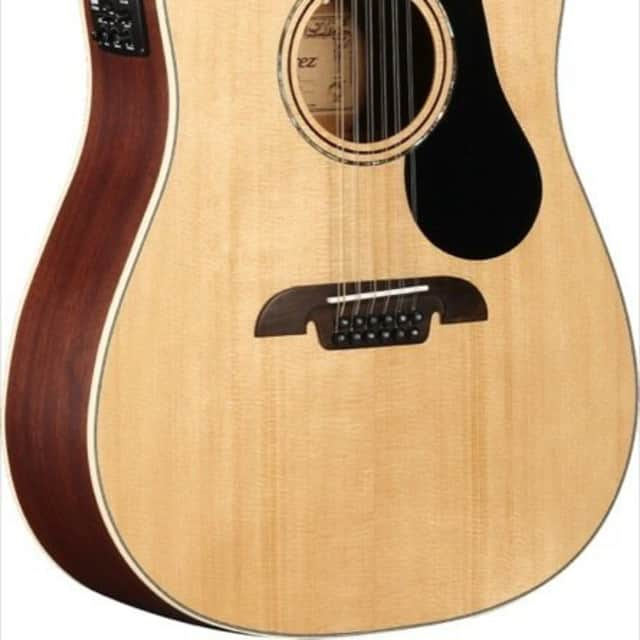 Alvarez AD60-12CE Artist Series 12 String Acoustic Electric Guitar  Natural image