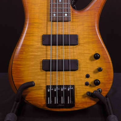 USED Fodera Monarch Select 4 String - Satin Sunrise Burst for sale