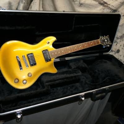 2012 Schecter Diamond Series Tempest Standard Electric Guitar with Original Case Metallic Gold for sale