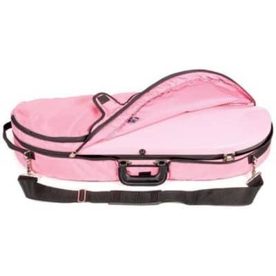 Bobelock 1047 Fiberglass Half Moon Violin Case Pink