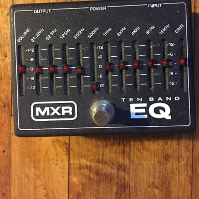 MXR MXR 10 Band Graphic EQ Pedal Black for sale