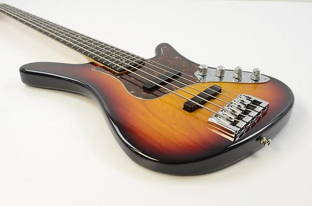 carvin sb5000 5 string electric bass guitar sunburst w ohsc reverb. Black Bedroom Furniture Sets. Home Design Ideas