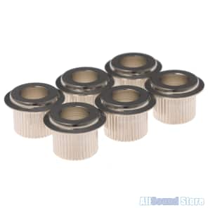 """NEW Gotoh Tuner Adapter Bushings - Converts 10 mm To Vintage 1/4"""" - NICKEL"""