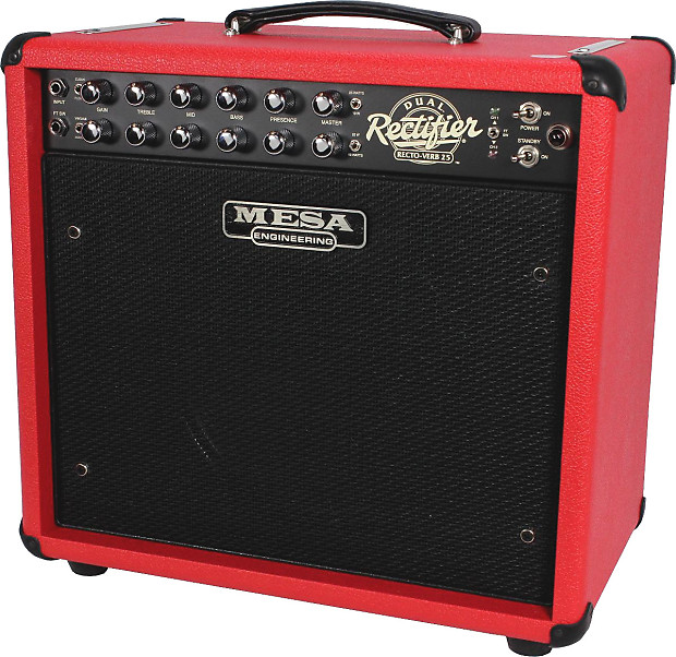 mesa boogie rectoverb 25 1x12 combo amp red w black grill reverb. Black Bedroom Furniture Sets. Home Design Ideas