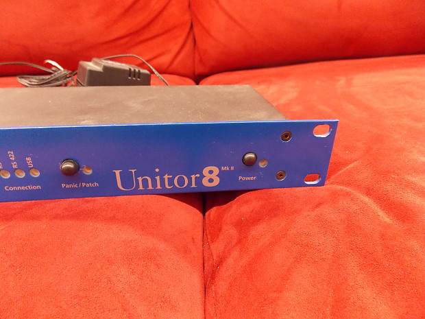 Emagic Unitor 8 MIDI Patchbay 8 In, 8 Out -rack mount with ac adapter