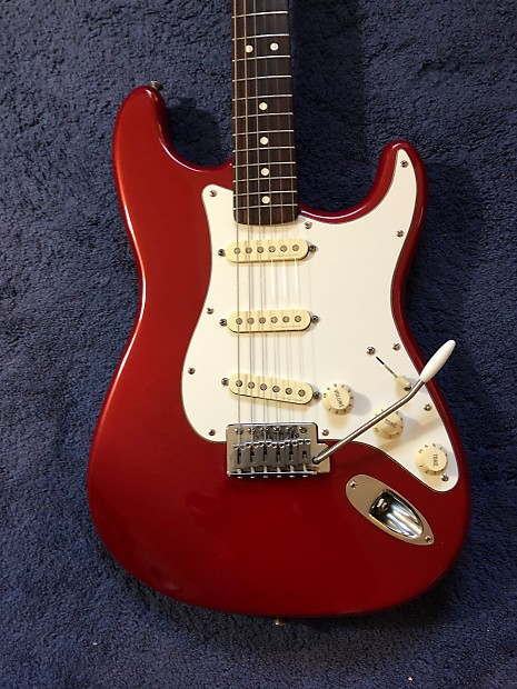 Fender MIM Standard Strat with 920D Fender Hot Noiseless Pickguard 1993 Red  Pearl