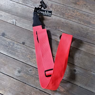 """Franklin 2"""" Poly Web Guitar Strap Red (OO-R)"""