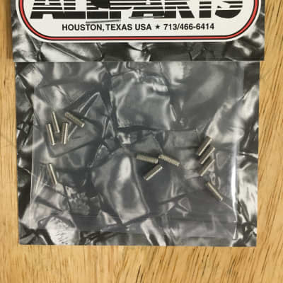 Allparts GS-0049-001 HEX HEAD GUITAR BRIDGE HEIGHT SCREWS Nickel